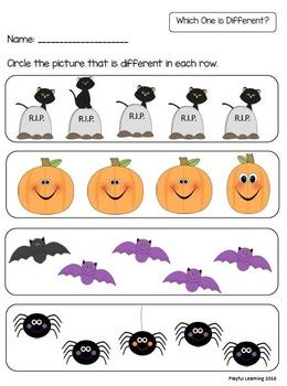 Halloween Preschool Pack