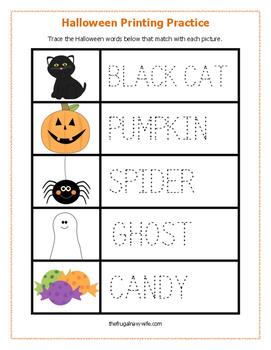 Preschool Halloween Printable Pack
