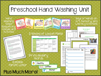 Preschool Hand Washing Unit