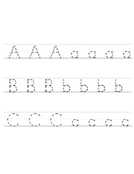 Preschool Handwriting Practice Printable Packet