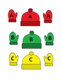 Preschool Hat and Mittens Alphabet Match