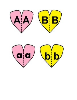 Preschool Heart Alphabet Puzzles for Valentine's Day
