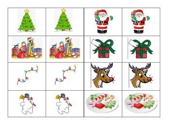 Preschool Holiday Matching