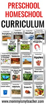 Preschool Homeschool Curriculum Theme Units