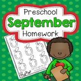 School Home Connection Preschool Homework September