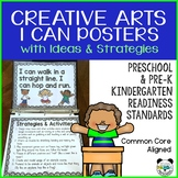 Preschool I Can Posters with Activity Ideas for Creative Arts Standards