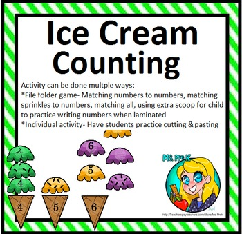 Preschool Ice Creaming Counting 1-30