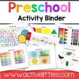 Preschool Interactive Activity Binder - Active Littles