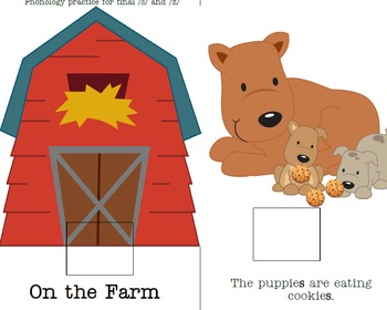 """Preschool Interactive Book for /s,z/ Phonology  """"On the Farm"""""""