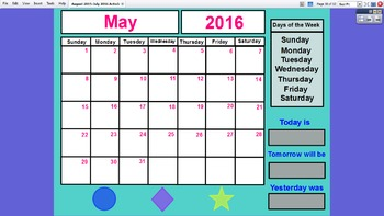 Preschool Interactive Calendar (FULL YEAR) - ActivInspire for Promethean Board