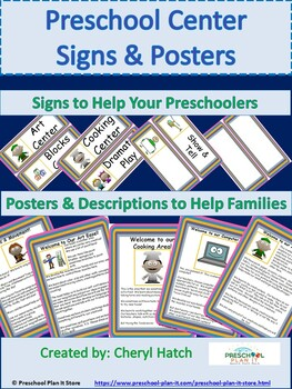 Preschool Interest Center Sign Labels AND Interest Center Posters