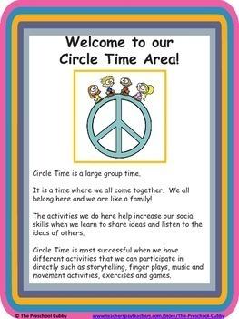 Preschool Interest Center Sign Labels AND Interest Center Posters