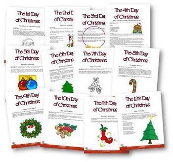 Christmas 12 Days of Activities