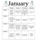 Preschool January Homework
