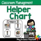 Preschool Job Helper Chart