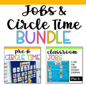 Preschool Jobs and Circle Time BUNDLE