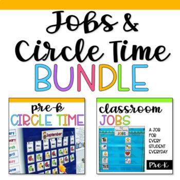 Preschool Jobs and Circle Time BUNDLE
