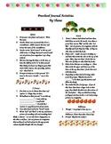 Preschool Journal Activities - contains some religious ideas