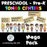 Preschool Kids Mega-Pack of Tongs Centers Activities
