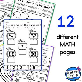 Preschool/Kinder Language Arts & Math Printables - FALL {Sweet Line Design}