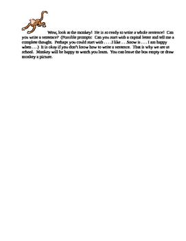 Preschool/Kindergarten/1st Grade Baseline Assessment