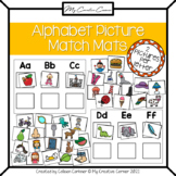 Preschool & Kindergarten Alphabet Matching Mats with Beginning Sounds Pictures