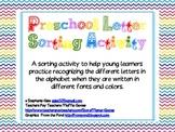 Preschool & Kindergarten Alphabet Sorting