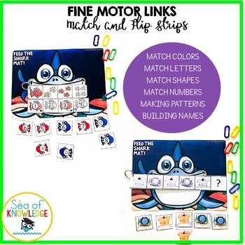Preschool Kindergarten Basic Skills Shark Mat Fine Motor + Personalised Name