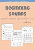 Preschool & Kindergarten: Beginning Sounds Worksheets