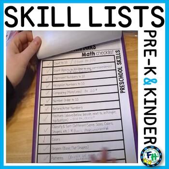 Preschool & Kindergarten Benchmark Assessment Pages