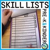 Preschool & Kindergarten Benchmark Skill Lists