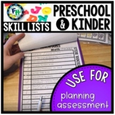 Preschool & Kindergarten Benchmark Skill Lists
