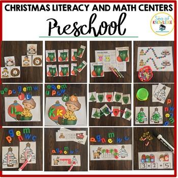 Preschool Christmas Centers and Fine Motor Activities