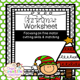 Preschool & Kindergarten Christmas Worksheet Freebie
