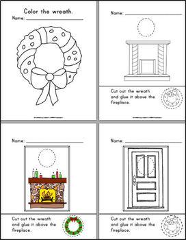Christmas Wreaths Numbers and Letters for PreK - Kindergarten
