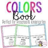 Preschool/Kindergarten Colors Book