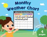 Preschool - Kindergarten Daily Weather Chart, Monthly Math Chart
