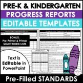 Preschool & Kindergarten ESL /EFL Progress Reports for Young Learners - EDITABLE