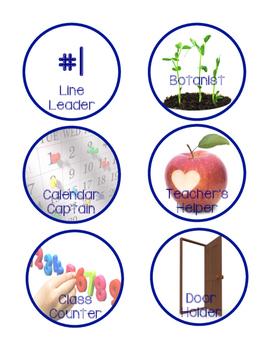Preschool Kindergarten Job Chart
