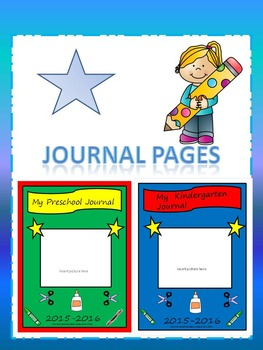 Preschool & Kindergarten Journal Starter Pages Bundle