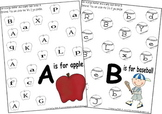 Preschool Kindergarten Letter Recognition Worksheets from A to Z