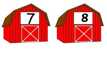 Preschool/Kindergarten Math Barns 1-10