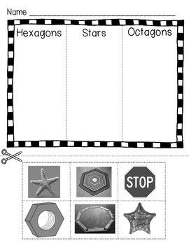 Preschool Kindergarten Math Center Snakey Shapes