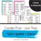 Preschool - Kindergarten Math- Greater-Than, Less Than Worksheets