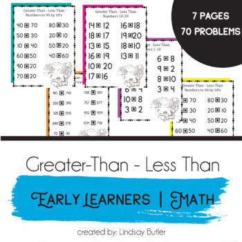 Crafty image for free printable greater than less than worksheets