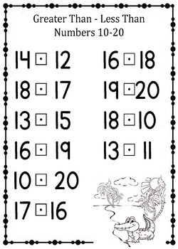 Preschool - Kindergarten Math- Greater-Than, Less Than Worksheets