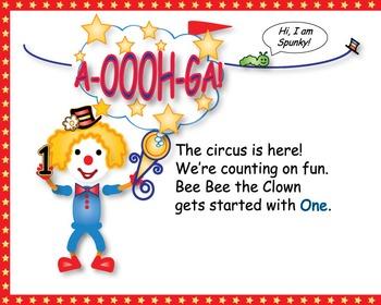 Preschool Kindergarten Numbers Animals Counting Circus