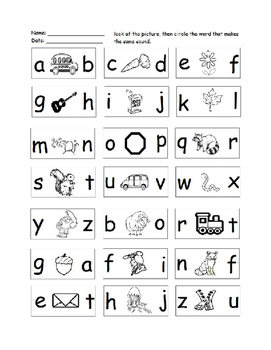 Preschool & Kindergarten Phonics