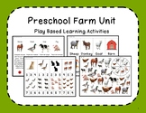 Preschool/Kindergarten Play Based Farm Unit