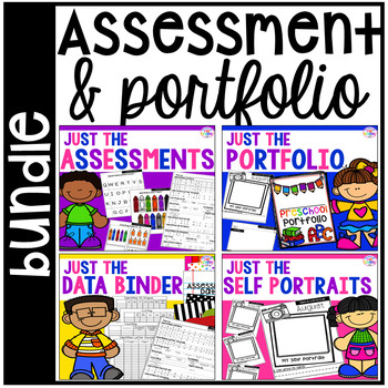 Assessments and Student Portfolios BUNDLE for Preschool, Pre-K, & Kinder